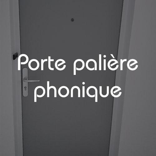 Pose de porte palière phonique